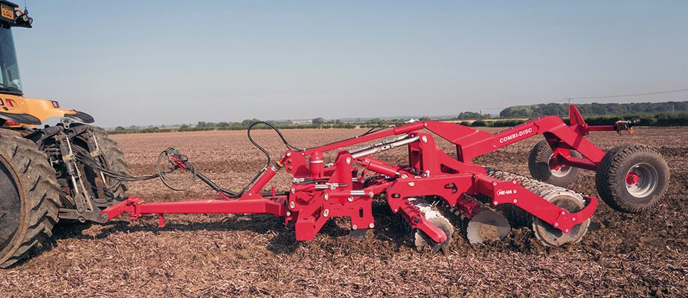 Combi-Disc Cultivator In Action